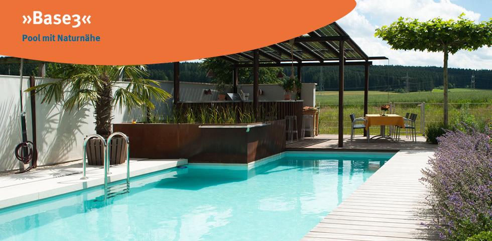 »Base3« Pool mit Naturnähe