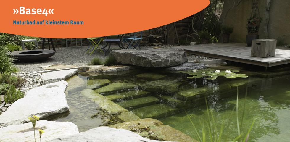 »Base4« Naturbad auf kleinstem Raum